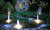 WATER FEATURE WITH LIGHTING EFFECT