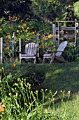 NEW ENGLAND WOODEN DECK CHAIRS