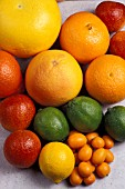 CITRUS FRUIT MIXED ON TABLE