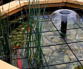 POND COVER,  METAL MESH TO PROTECT CHILDREN