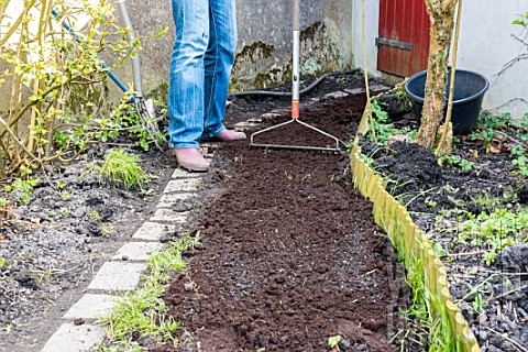 Sowing_a_lawn_on_a_garden_path