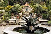 FOUNTAIN. ABBEY GARDENS TRESCO ISLES OF SCILLY
