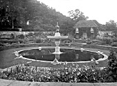 THE FOUNTAIN IN THE GARDEN AT HEYWOOD HOUSE. THE GARDENS WERE DESIGNED BY SIR EDWIN LUTYENS AND WERE COMPLETED IN 1912.