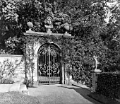 THE GATE IN THE TERRACE GARDEN AT BALCASKIE.