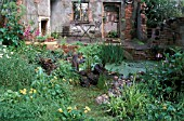 ABANDONED GARDEN AND PATIO,  STONEMARKETS ROOM FOR WILDLIFE,  DESIGN C CALIGARI,  CHELSEA 2003