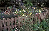 PICKET FENCE COTTAGE GARDEN CORNER