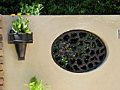 CLAIR VOYE,  WINDOW IN WALL,  PLANTED WALL POT