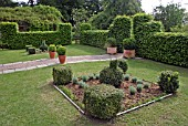 NEWLY PLANTED FORMAL GARDEN