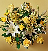 YELLOW AND WHITE THEMED FLOWER ARRANGEMENT