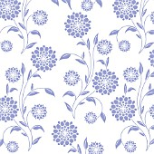DOUBLE FLOWER MAUVE SOLID WHOLE PLANT REPEAT, ON WHITE BACKGROUND, (GRAPHIC ART)