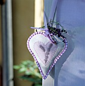 LAVENDER HEART MADE OF CLOTH