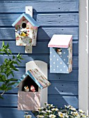 DECORATED BIRD BOXES