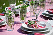 SUMMER TABLE DECORATED WITH HERBS