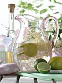 JUG WITH ELDER SYRUP, LEMON AND LIME