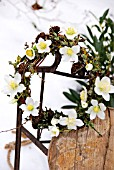 FESTIVE WREATH WITH HELLEBORUS