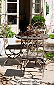 RUSTIC GARDEN FURINTURE SET ON PATIO