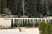 NEW PLANTING AND ARCHITECURAL PLANNING AT THE GENERAL LIFE GARDENS THE ALHAMBRA PALACE,  GRANADA SPAIN.