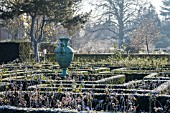 FROSTED HEDGES AT JARDIN DES PLANTES, ROUEN, FRANCE