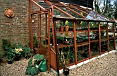 LEAN TO WOODEN GREENHOUSE