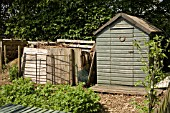 SHED AND COMPOST AREA ON ALLOTMENT