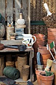 OLD FASHIONED POTTING SHED, HARTLEYS BOTANIC STAND AT CHELSEA FLOWER SHOW 2008
