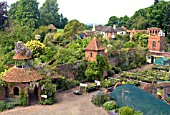 AERIAL VIEW OF STONE HOUSE COTTAGE GARDEN AND NURSERY, MAY