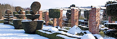 FELLEY_PRIORY_NOTTINGHAM_TOPIARY_IN_SNOW