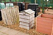 COMPOST BINS AT RYTON ORGANIC GARDEN,  COVENTRY