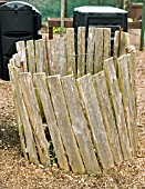 NATURAL COMPOST BIN MADE FROM OLD FENCING,  RYTON ORGANIC GARDEN,  COVENTRY