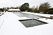 LONG WATER IN THE SNOW; RHS WISLEY