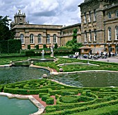 THE WATER TERRACE AT BLENHEIM PALACE,  BUXUS PARTERRE