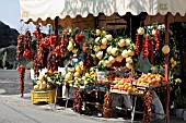 SEASONAL FRUIT STALL, AMALFI PENINSULA