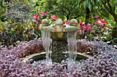 FOUNTAIN AT THE NATIONAL ORCHID GARDEN, SINGAPORE