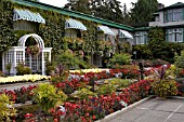 BUTCHART GARDENS, THE ITALIAN GARDEN IN AUTUMN