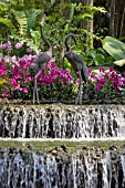 CRANE FOUNTAIN, NATIONAL ORCHID GARDEN, SINGAPORE