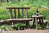 CHELSEA 2005 RUSTIC TABLE AND CHAIR AT FETZER WINE GARDEN (DESIGNER KATE FREY)