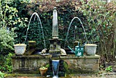FOUNTAIN, SHEPHERD HOUSE, INVERESK, SCOTLAND  OWNERS, SIR CHARLES AND LADY ANN FRASER