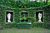 STATUES IN ALCOVES, MONTE PALACE TROPICAL GARDEN, MADEIRA