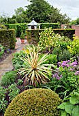 BORDERS OF HERBACEOUS PERENNIALS AT WOLLERTON OLD HALL