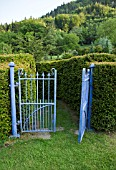 WROUGHT IRON CLASSIC GARDEN GATES, GARDEN ART WITHIN THE MAZE AT DOLGARROG