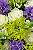 FLOWER BOUQUET WITH CAMPANULA, ROSA AND CHRYSANTHEMUM
