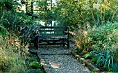 POND WITH SEATING AT HANKHAM COTTAGE,  SIMON AND MAGGIE BULLER (FEATURE AVAILABLE ON REQUEST)