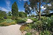 THE DROUGHT RESISTANT GRAVEL GARDEN AT BETH CHATTO GARDENS.