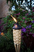 BAMBOO BURNER WITH INSECT REPELENT LIQUID BURNING,  FOR GARDENS