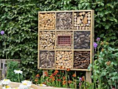 INSECT HOTEL ON THE VISIBLE GARDEN DESIGNED BY STEPHEN HALL DESIGNS LTD